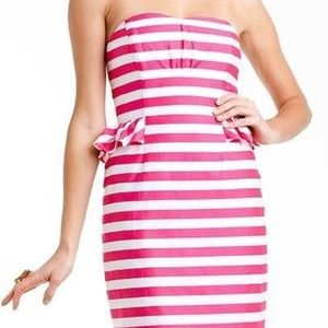 LIlly Pulitzer MayBell striped Strapless Dress 2